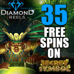 35 Free Spins on Secret Symbol at Diamond Reels Online Casino